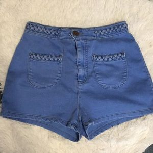 BDG Braided Belt High Waisted Short
